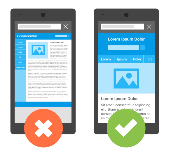 Two mobile website wire frames