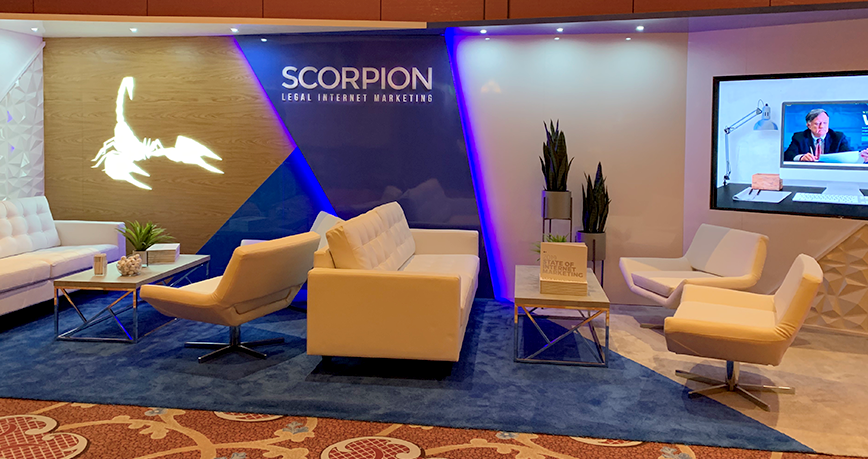 Scorpion booth at MTMP conference