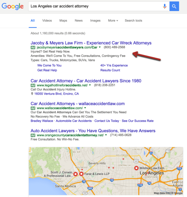 PPC Ad on Search Engine Results Page