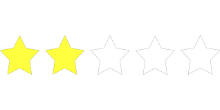 Rating with two out of five stars