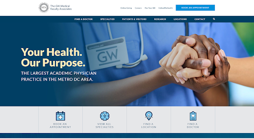 The GW Medical Faculty Associates website.