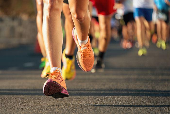 image of runner's legs