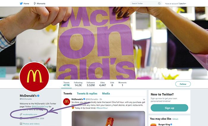 McDonald's Twitter.