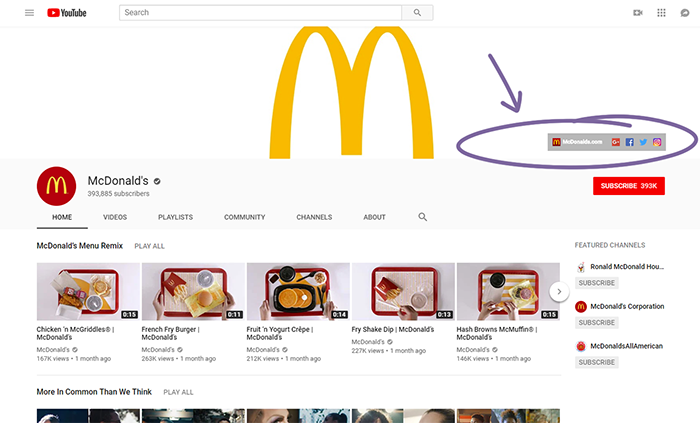 McDonald's YouTube.